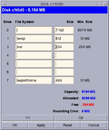 Solaris 10 installer: /var